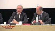 Intervention de Jean-Marc Ayrault devant le groupe socialiste 15/01/2013