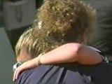 Martina Hingis en pleurs après sa défaite face à Steffi Graf
