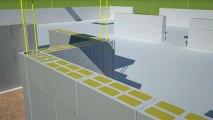 Les murs bloc béton cellulaire en 3D d'une maison individuelle - Je construis ma maison avec Alkern