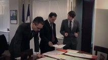 L'organisation du point de presse au ministère des Affaires étrangères