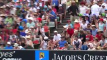 Open d'Australie: Coup de raquette de Tsonga.
