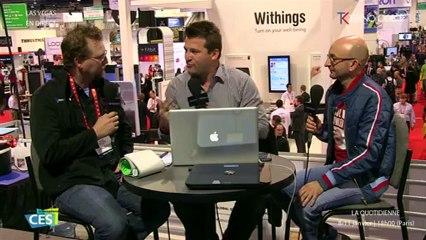 CES 2013  Jour 2 : la Quotidienne TEKNOLOGIK en direct de Las Vegas : TV et Withings