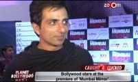 Sohail Khan, Sonu Sood, Suniel Shetty at the premiere of Mumbai Mirror