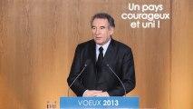 François Bayrou, voeux à la presse - 180113