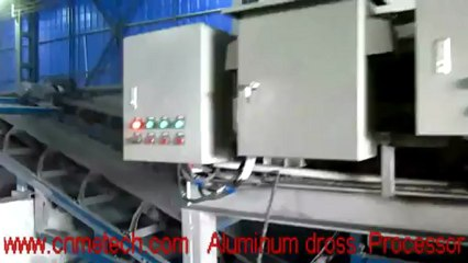 Aluminum dross separator and recovery or processing machine+dross cooling&screening system