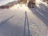 Ski, Les Orres - bosse du Snow Park