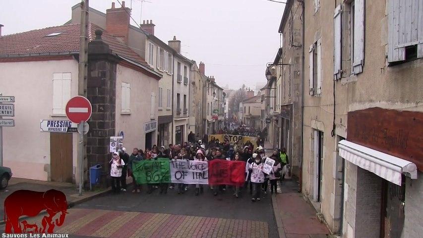Marche silencieuse contre l'élevage de Harlan à Gannat (19.01.2013)