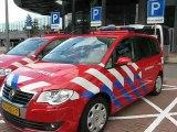 Rotterdam, Pays Bas : véhicules secours et gratte ciel