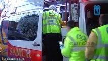 Un coche atropella a dos personas en la Castellana
