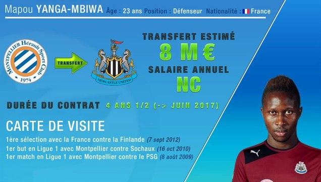 Officiel : Yanga-Mbiwa quitte Montpellier et rejoint Newcastle !