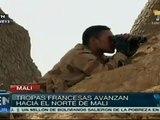 Tropas francesas avanzan haca el norte de Malí