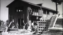 Noisy-le-Sec le laboratoire de la reconstruction, 1948 L'album cinématographique de la reconstruction maison préfabriquée production ministère de la Reconstruction et de l'Urbanisme