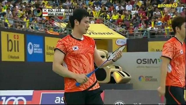 MAYBANK Malaysia Open 2013 ~ MDF ~ Ahsan/Setiawan[INA] vs Ko/Lee[KOR] ~ Part 2
