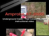 Amprobe AT 3500 Underground pipe, wire and cable locator detector