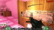 World Record - Round 46 - Call of Duty Custom Zombies - Hello Kitty Beasting Live with BuilderHD!