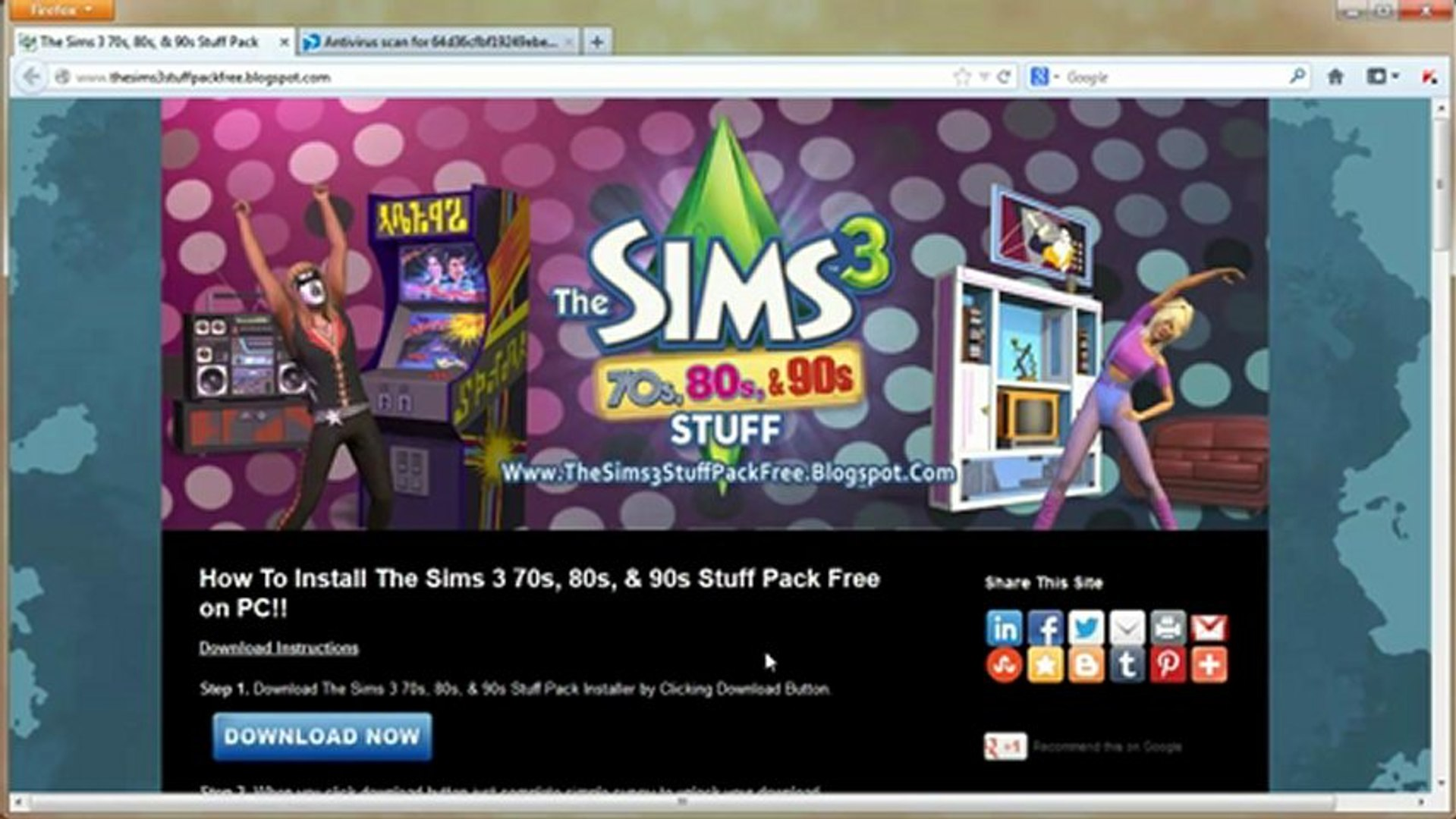 Download The Sims 3 70s, 80s, & 90s Stuff Pack Installer Free on PC