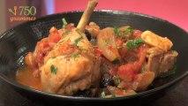 Recette de Poulet aux olives et tomates - 750 Grammes