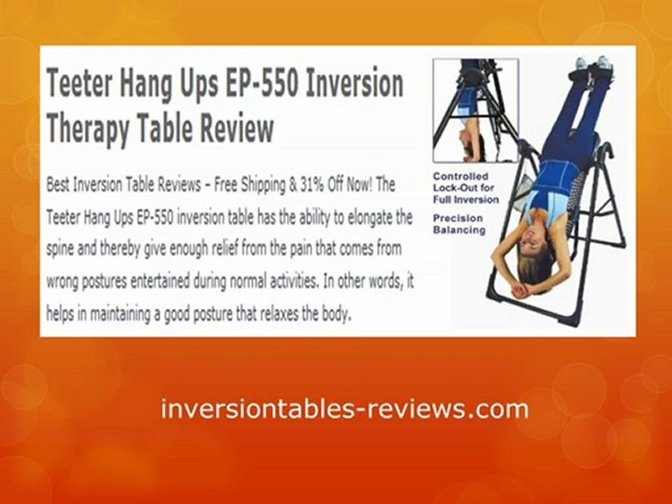 Inversion Table Reviews - Top 10 Inversion Tables