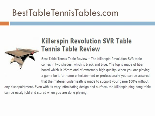 Table Tennis Table Reviews – Top 10 Table Tennis Tables
