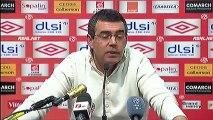 Conférence de presse AS Nancy-Lorraine - FC Lorient : Patrick GABRIEL (ASNL) - Christian  GOURCUFF (FCL) - saison 2012/2013