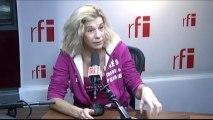 Frigide Barjot, l'humoriste catholique, chef de file du collectif d'opposants « La manif pour tous », fondatrice du collectif « Pour l'Humanité durable »