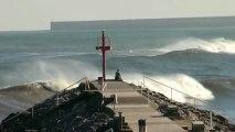 Temporal en el mar Cantábrico 28 enero 2013