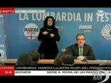 Maroni: tasse restano qui, per Lombardia 16 mld in più - VideoDoc. Candidato al Pirellone presenta programma: trattenere 75% tasse