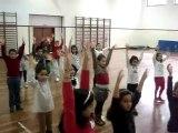 Ensaio coreografia para a festa do desporto escolar