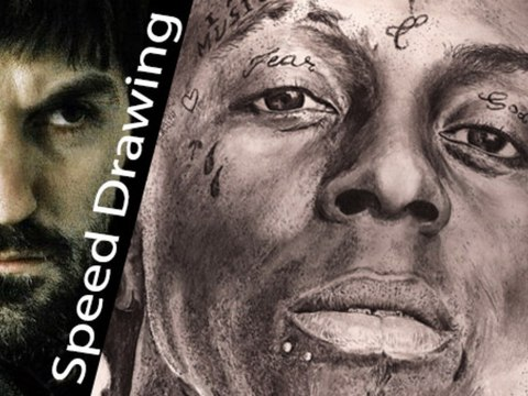 Lil Wayne SPEED DRAWING! Amazing tribute - 10 hours time lapse!
