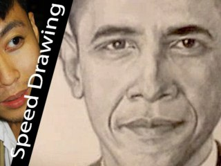 Wow! Barack Obama timelapse portrait! Amazing pencil scketch made by Momo Zhang!