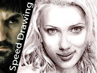 SCARLETT JOHANSSON Speed Drawing! Time-lapse DRAW! Portrait of Sexyest Hollywood actress!