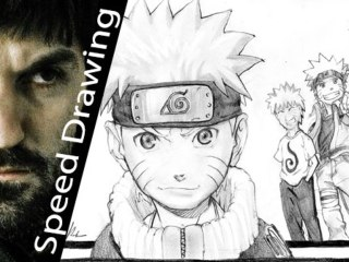 Naruto  pencil portrait by Speed Drawing Italia
