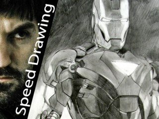 IRON MAN! Amazing SKETCH in speed drawing! Must see!!!