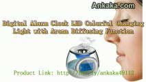 How To Use LED Colorful Changing Light Digital Alarm Clock with Aroma Diffusing Function