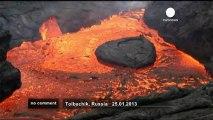 Eruption du volcan Plosky Tolbachik en Russie - no comment