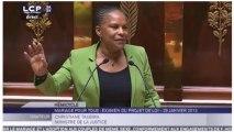 Mariage homo : le discours de Taubira en moins de 3 minutes