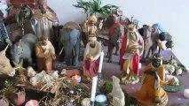 Crèche de noël 2012 vergaville gerardo, santons anciens d'église Pieraccini Devineau