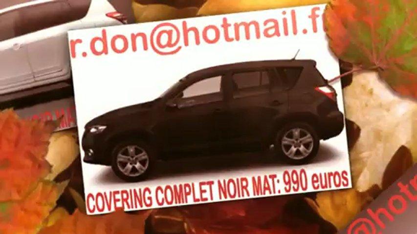 Toyota RAV4, toyota RAV4, covering Toyota RAV4, Toyota RAV4 noir mat, Toyota RAV4 peinture noir mat