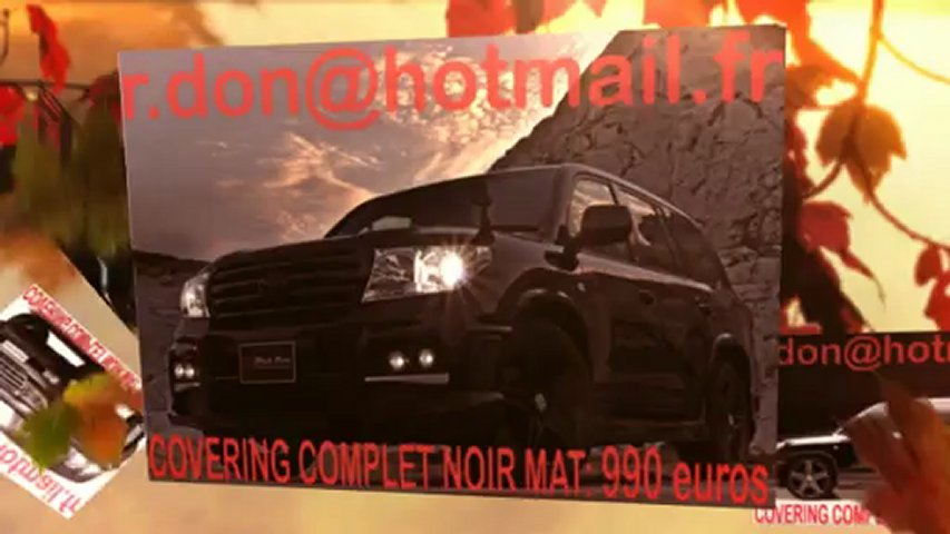 Toyota Landcruiser, Toyota Landcruiser, covering Toyota Landcruiser, Toyota Landcruiser noir mat, Toyota Landcruiser peinture noir mat