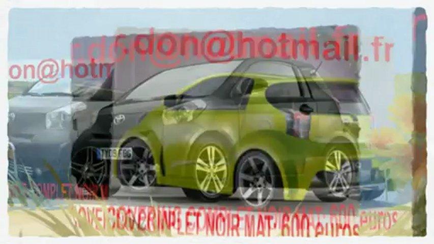 Toyota IQ,Toyota IQ, covering Toyota IQ, Toyota IQ noir mat, Toyota IQ peinture noir mat