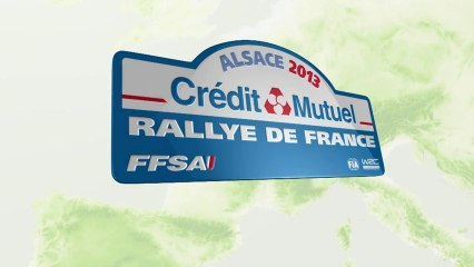 WRC - Le parcours du Rallye de France - Alsace 2013