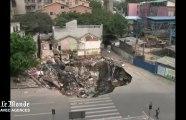 En Chine, plusieurs bâtiments engloutis dans les souterrains de Guangzhou