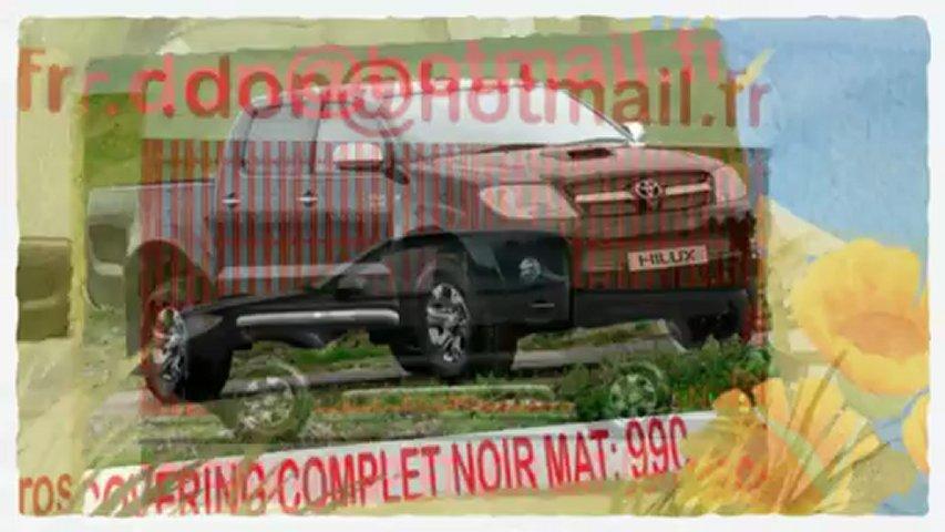 Toyota Hilux,Toyota Hilux, covering Toyota Hilux, Toyota Hilux noir mat, Toyota Hilux peinture noir mat