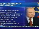 Vladimir Putin desea pronta recuperación a Hugo Chávez