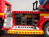 camion de pompier à échelle en lego technic
