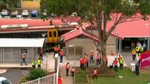 Train crashes and derails in Brisbane, Australia