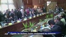 Egypte: les factions rivales condamnent les violences