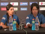 Sri Lanka women's team skipper talks to reporters, February 1, 2013