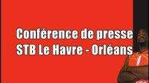 conference de presse STB Le Havre - Orléans