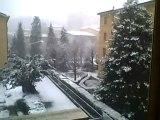 Melegnano sotto la neve